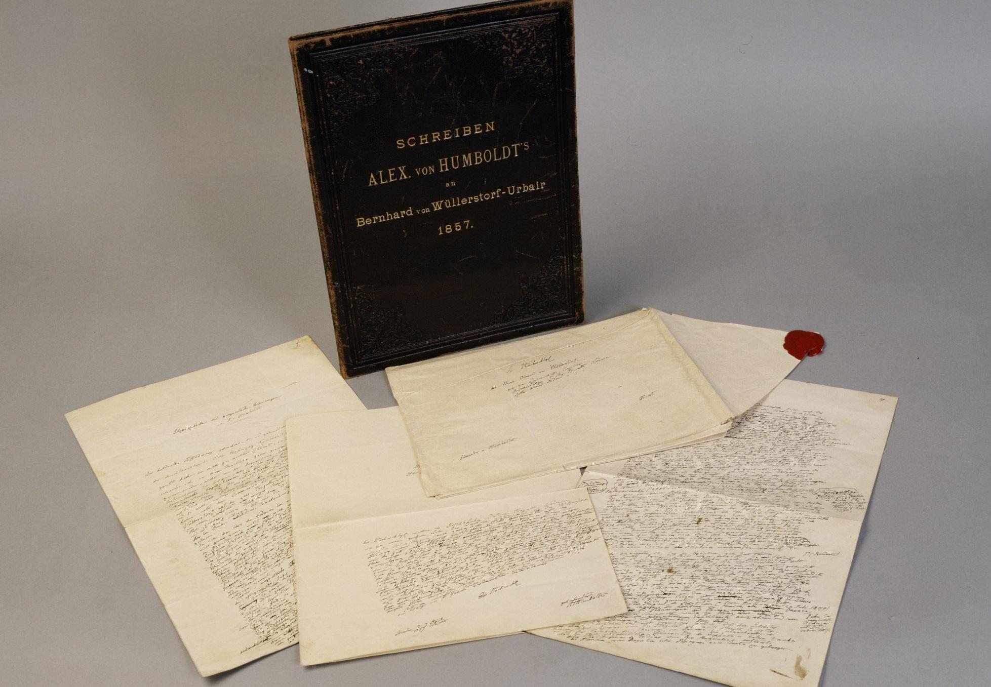 Archivmaterial zu Aleyander von Humboldt und der Weltumsegelung der Novara