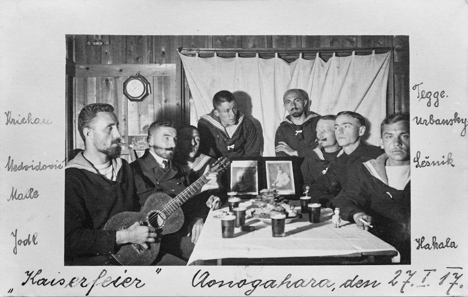 Kaiserfeier im Lager Aonogahara 1917