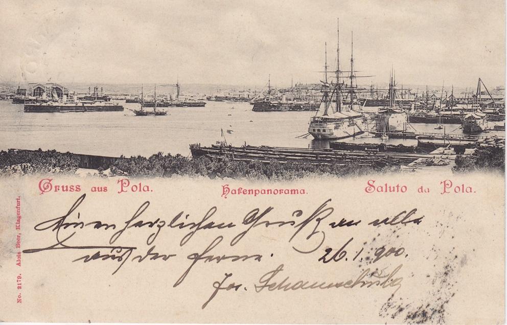 Alois Beer: Hafenpanorama von Pola