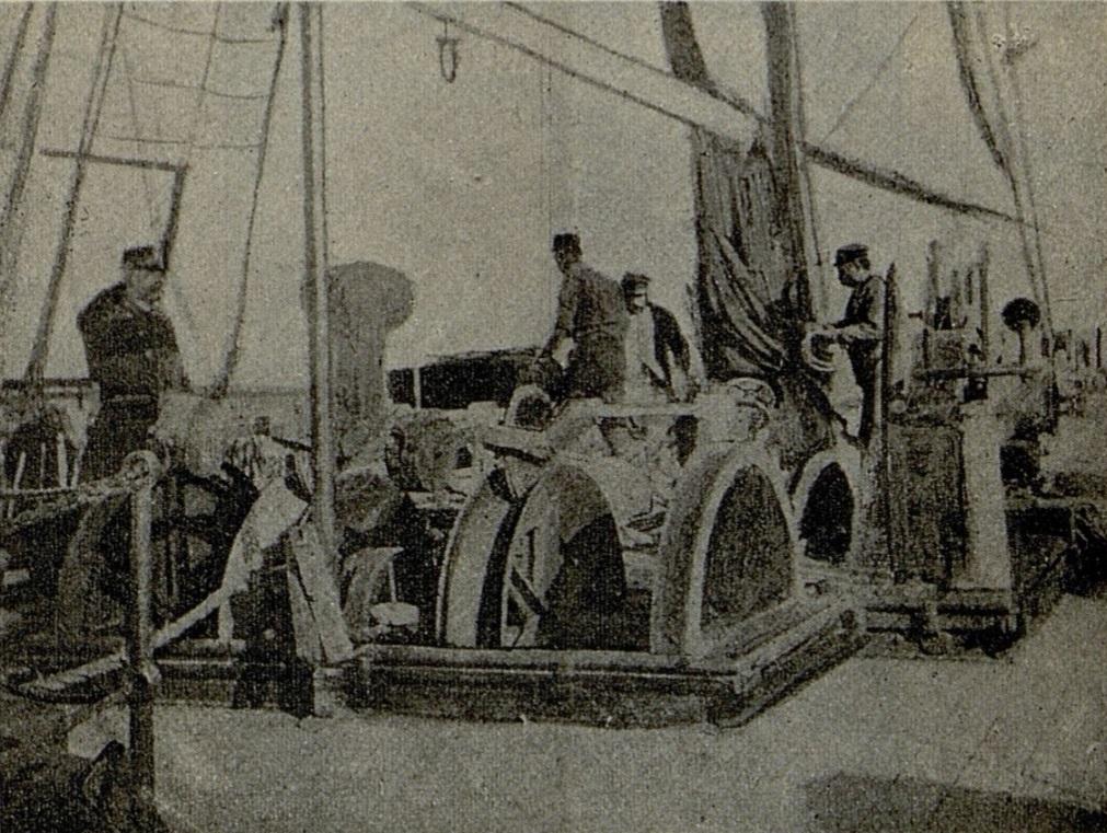 An Bord des Kabellegers Electra